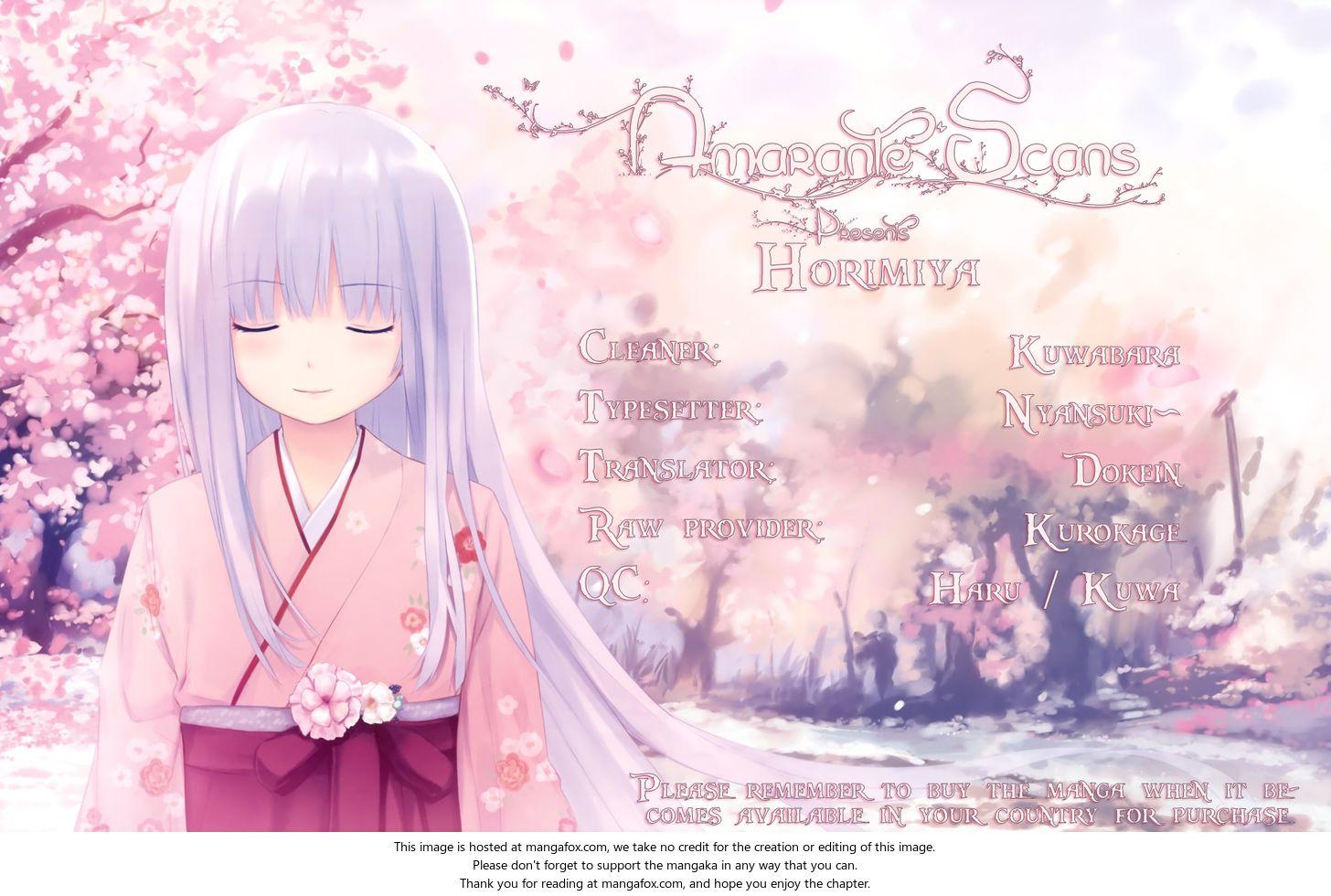 Horimiya 25: Can't Say at MangaFox