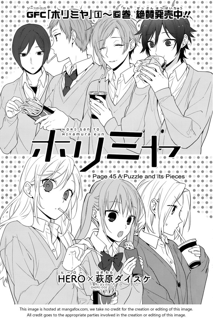 Horimiya 45: A Puzzle and Its Pieces at MangaFox