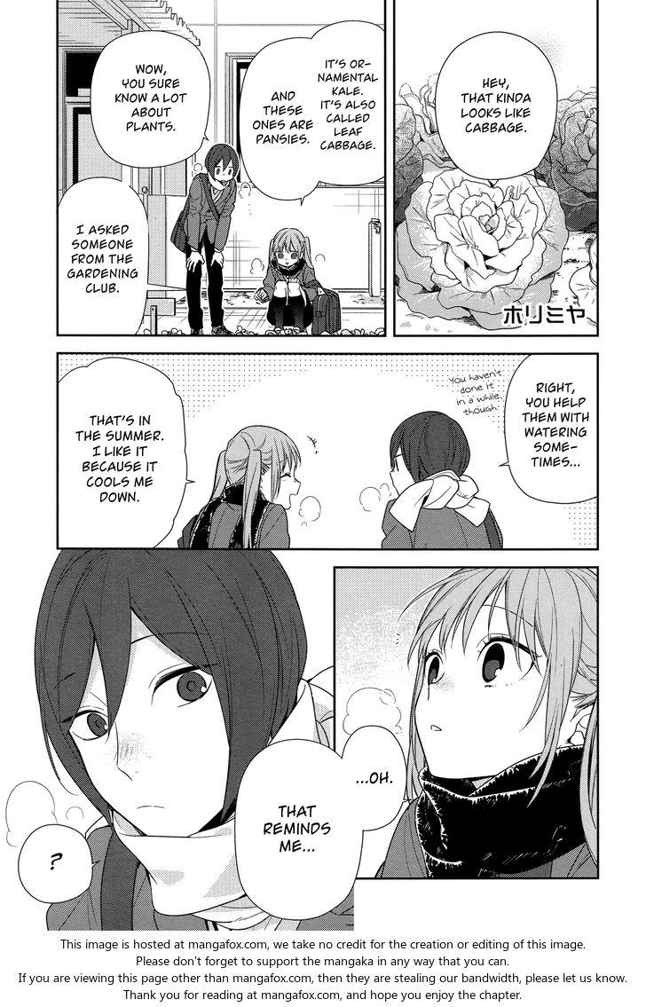 Horimiya 78: His Secret at MangaFox