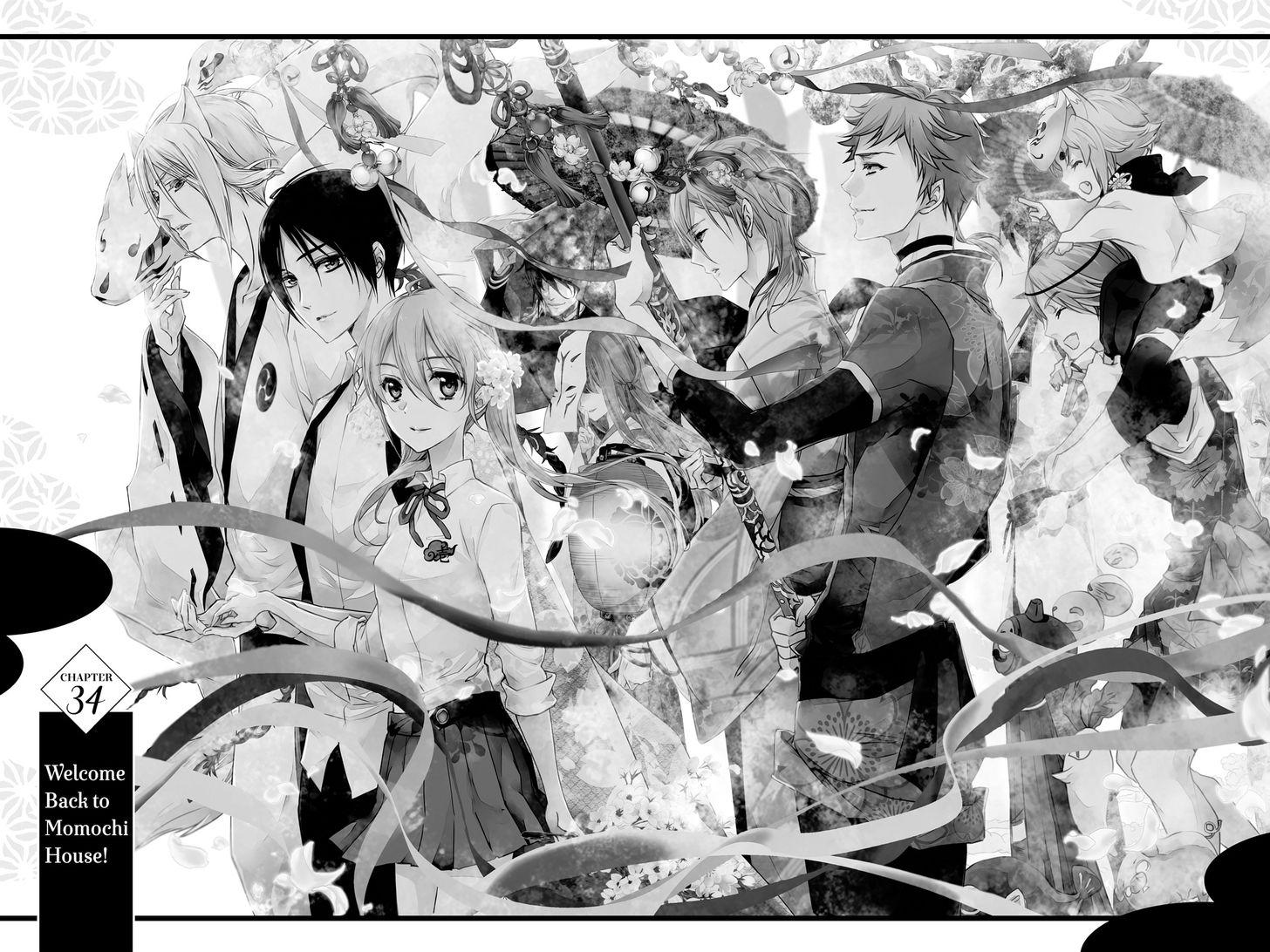 Momochi-san Chi no Ayakashi Ouji 34: Welcome Back to Momochi House! at MangaFox