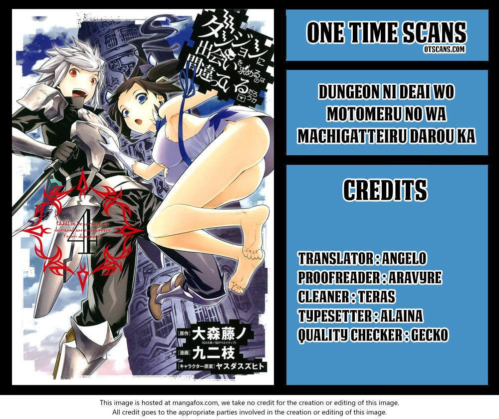 Dungeon ni Deai o Motomeru no wa Machigatte Iru Darou ka 81 at MangaFox