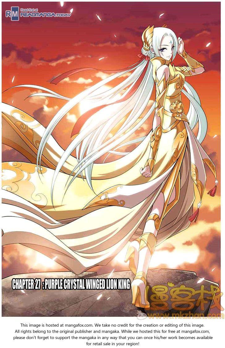 Doupo Cangqiong 27: Purple Crystal Winged Lion King at MangaFox