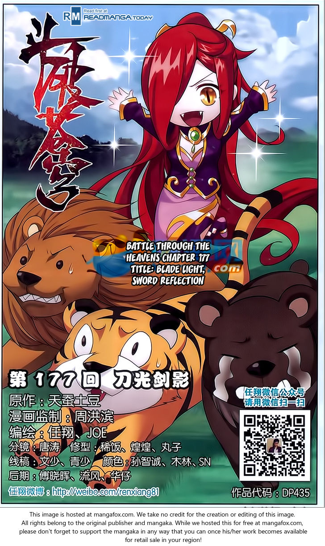 Doupo Cangqiong 177: Blade Light, Sword Reflection at MangaFox