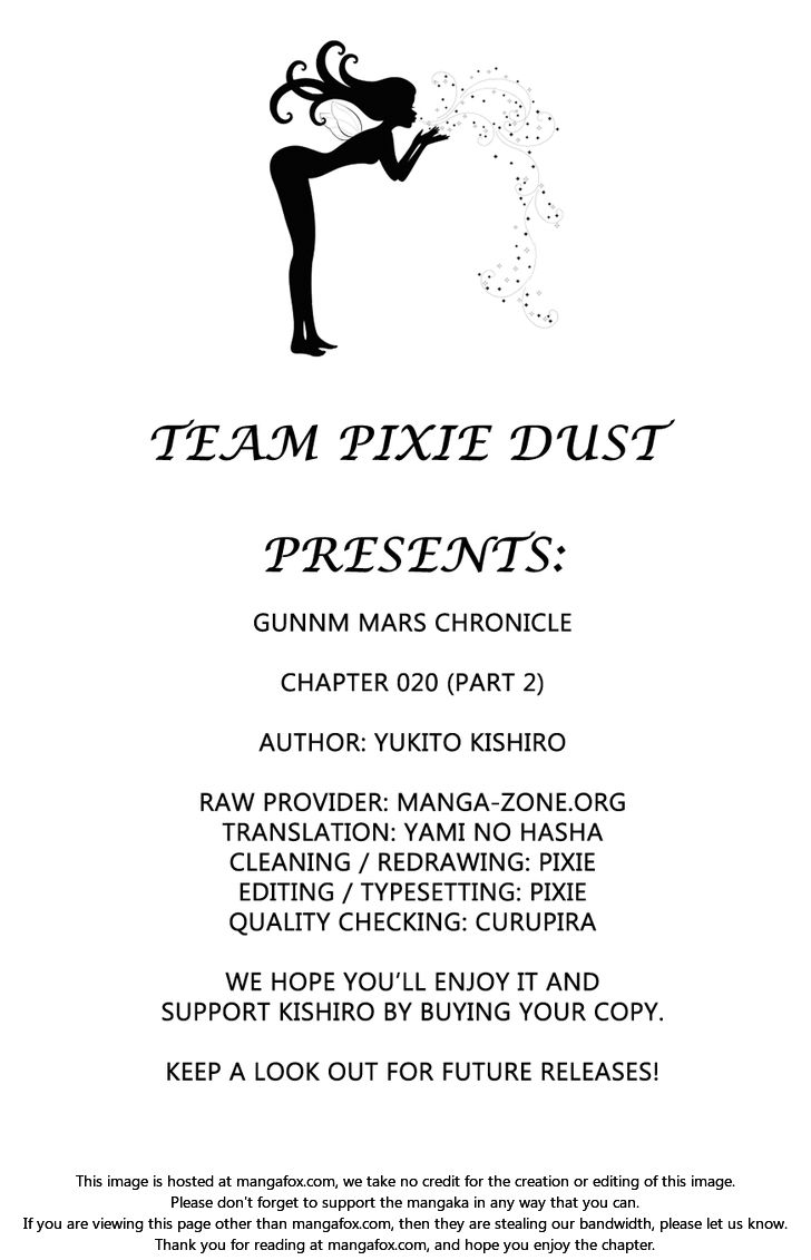 Gunnm Mars Chronicle 20.2: log 20.2 (Second Half) - Precept at MangaFox