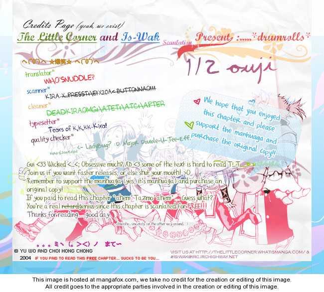 1/2 Prince 22.5: [1/2 Prince Sidestory] Diary at MangaFox