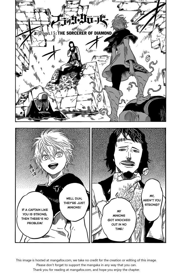 Black Clover 13: The Sorcerer of Diamond at MangaFox