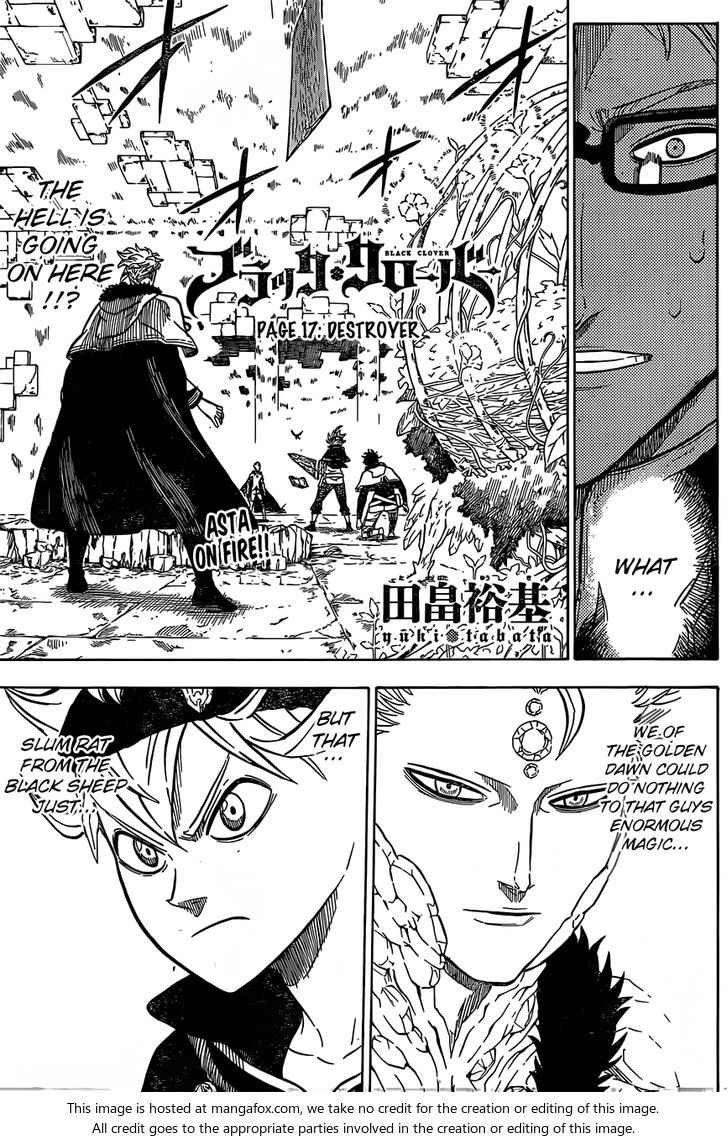 Black Clover 17: Destroyer at MangaFox