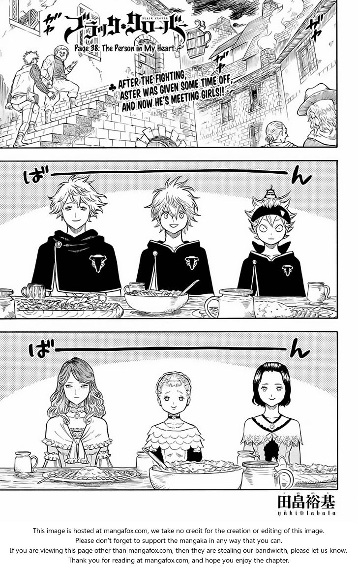 Black Clover 38: The Person In My Heart at MangaFox