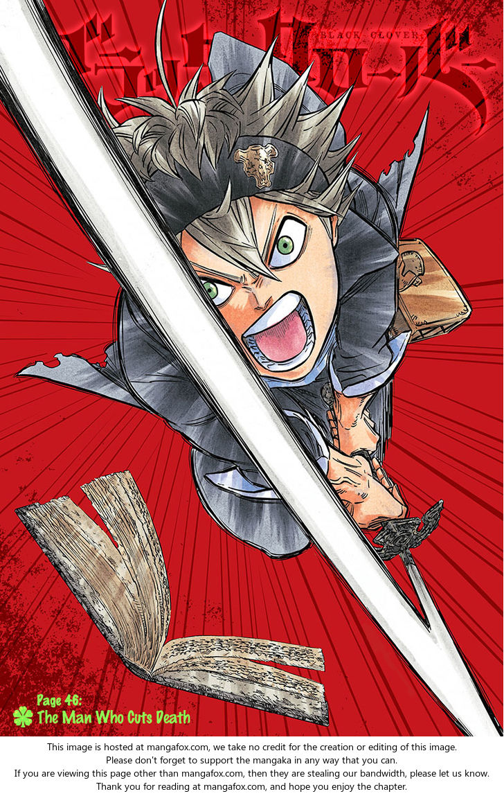 Black Clover 46: The man who cuts death at MangaFox