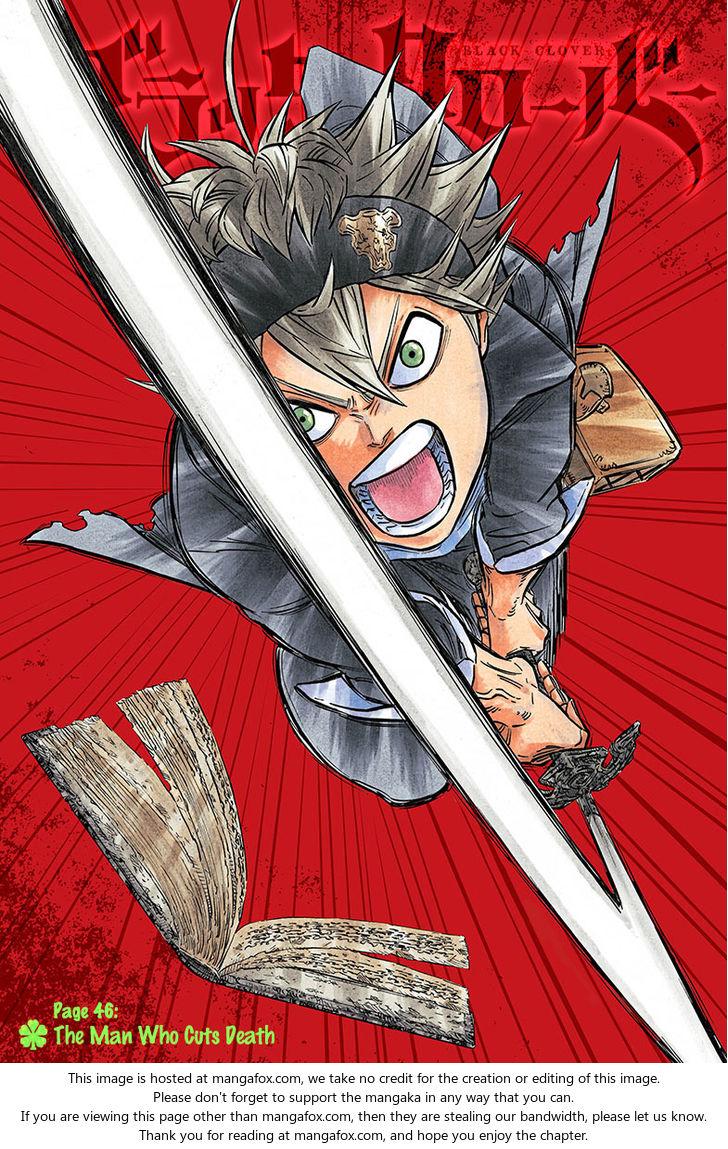 Black Clover 46: The man who cuts death at MangaFox