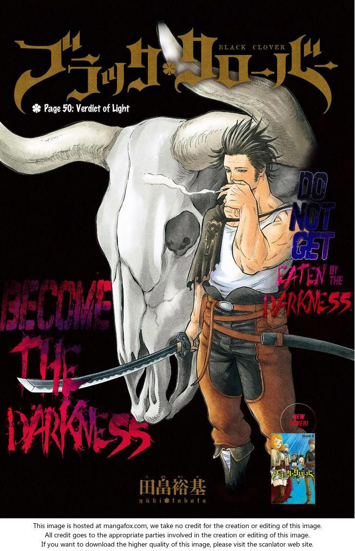 Black Clover 50: Verdict of Light at MangaFox
