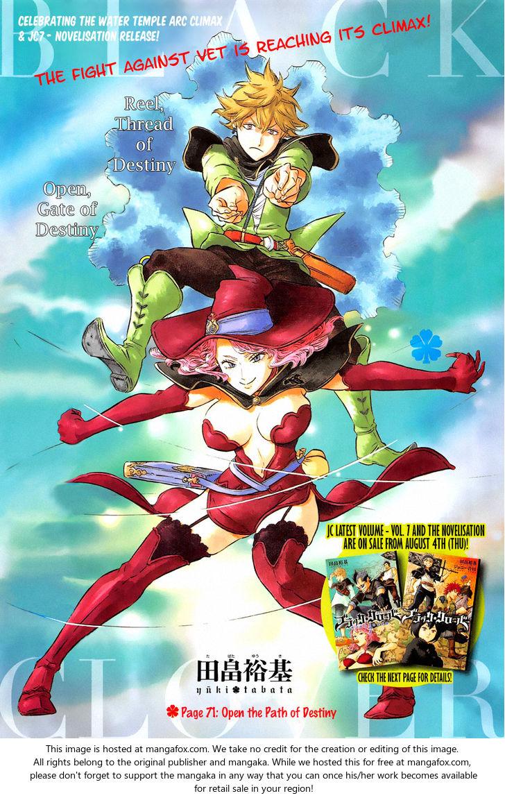 Black Clover 71: Open the Path of Destiny at MangaFox