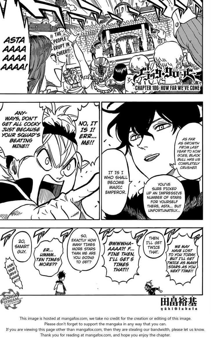 Black Clover 106: How Far We've Come at MangaFox