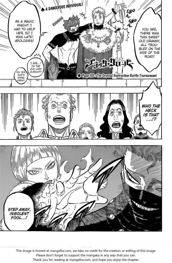 Black Clover 113: The Crystal Destruction Battle Tournament at MangaFox