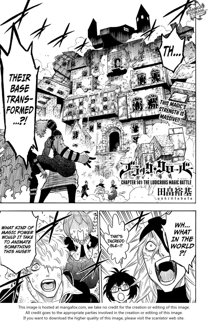 Black Clover 141: The Ludicrous Magic Battle at MangaFox