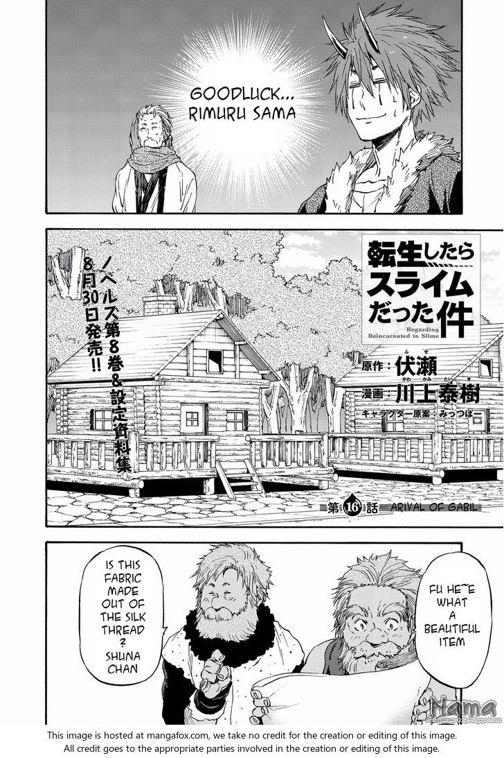 Tensei Shitara Slime Datta Ken 16: arrival of gabil at MangaFox