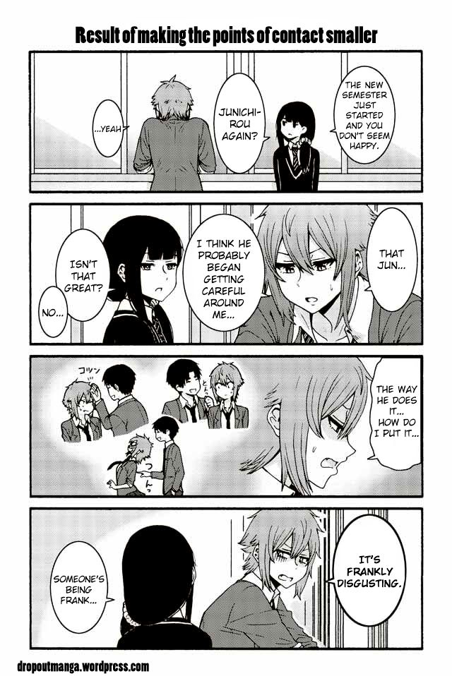 Tomo-chan wa Onnanoko! 520: Result of making the points of contact smaller at MangaFox