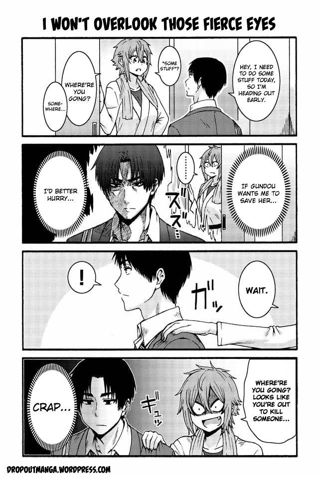 Tomo-chan wa Onnanoko! 531: I won't overlook those fierce eyes at MangaFox