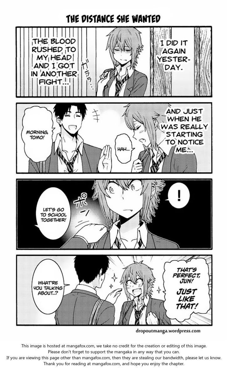 Tomo-chan wa Onnanoko! 547: The distance she wanted at MangaFox