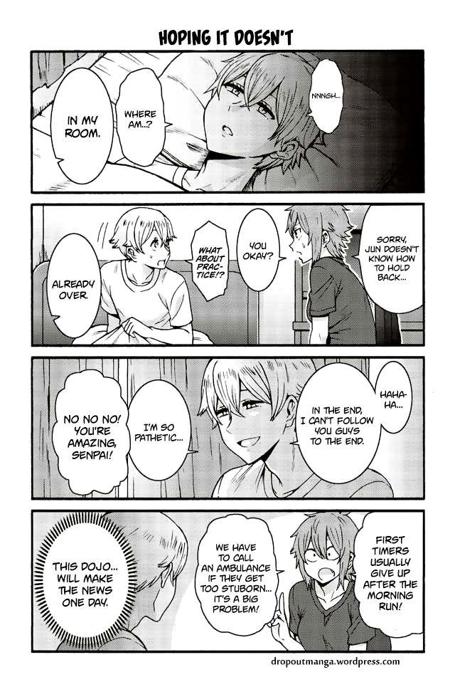 Tomo-chan wa Onnanoko! 563: Hoping It Doesn't at MangaFox