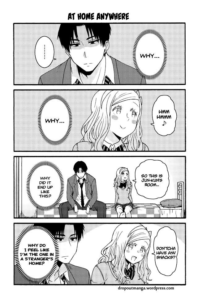 Tomo-chan wa Onnanoko! 584: At home anywhere at MangaFox