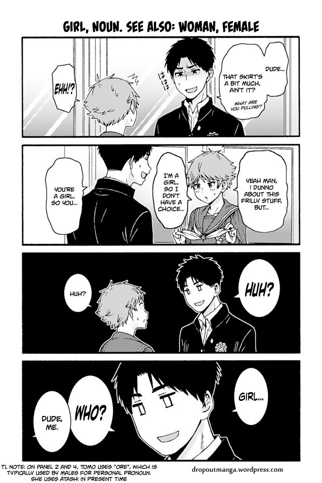 Tomo-chan wa Onnanoko! 672: Girl, noun. See Also: Woman, Female at MangaFox