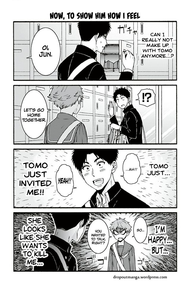 Tomo-chan wa Onnanoko! 714: Now, To Show Him How I Feel at MangaFox