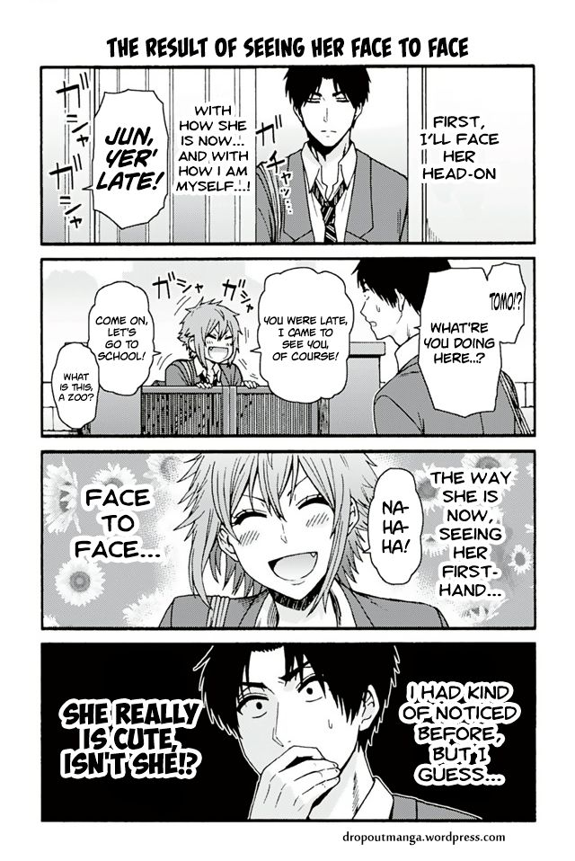 Tomo-chan wa Onnanoko! 721: The Result Of Seeing Her Face To Face at MangaFox