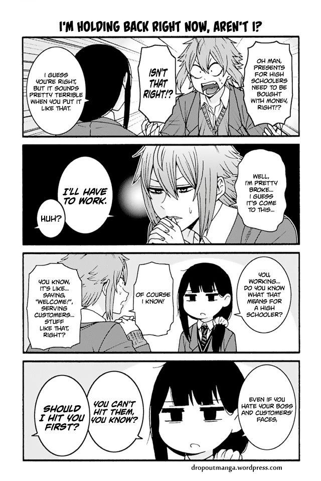 Tomo-chan wa Onnanoko! 726: I'm holding back right now, aren't I? at MangaFox