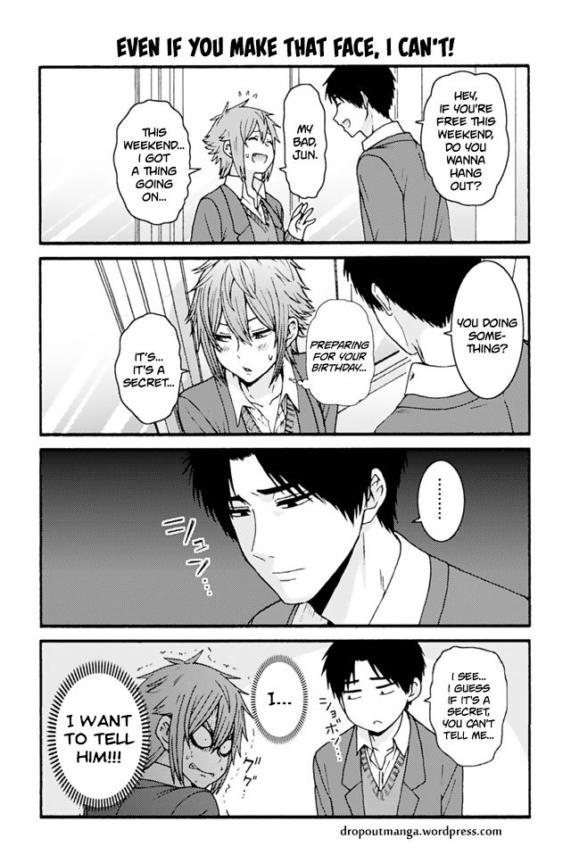 Tomo-chan wa Onnanoko! 730: Even If You Make That Face, I Can't! at MangaFox