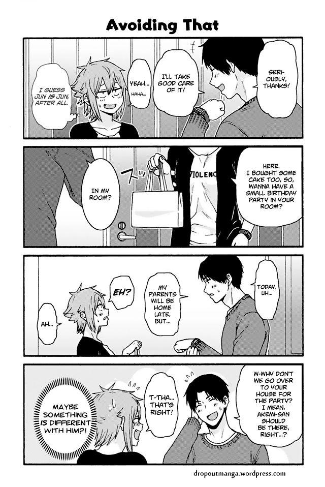Tomo-chan wa Onnanoko! 757: Avoiding That at MangaFox