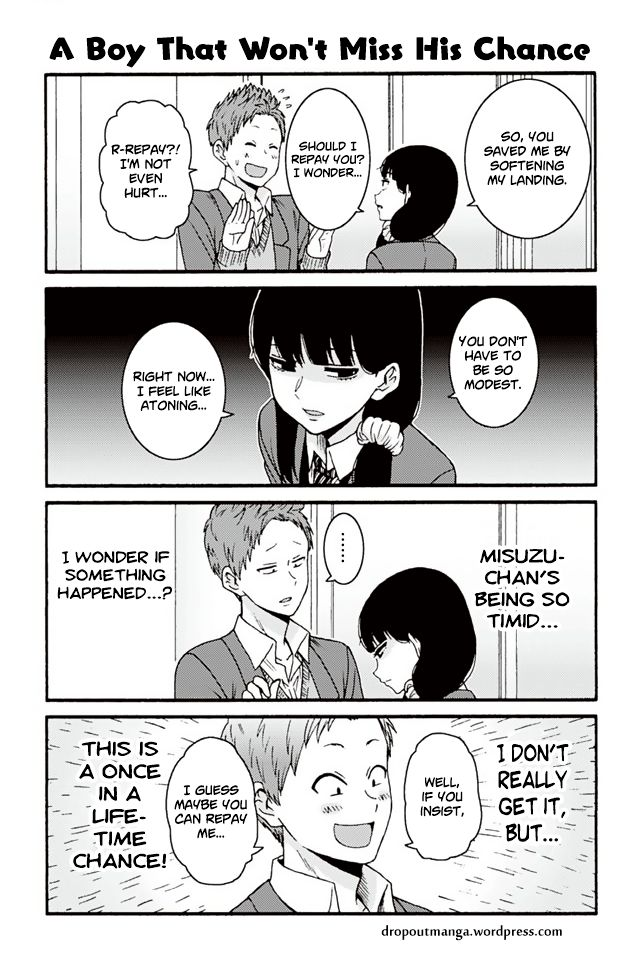 Tomo-chan wa Onnanoko! 768: A Boy That Won't Miss His Chance at MangaFox