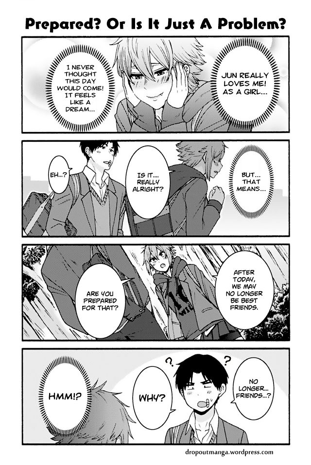 Tomo-chan wa Onnanoko! 866: Prepared? Or Is It Just A Problem? at MangaFox