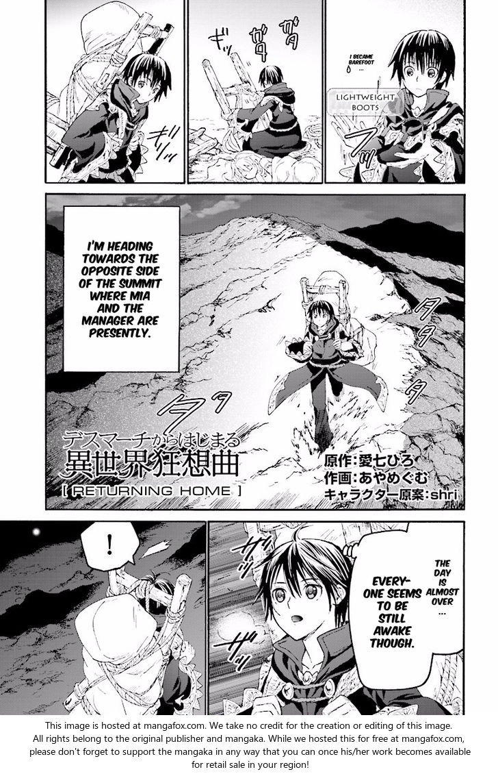 Death March kara Hajimaru Isekai Kyousoukyoku 26: Returning Home at MangaFox