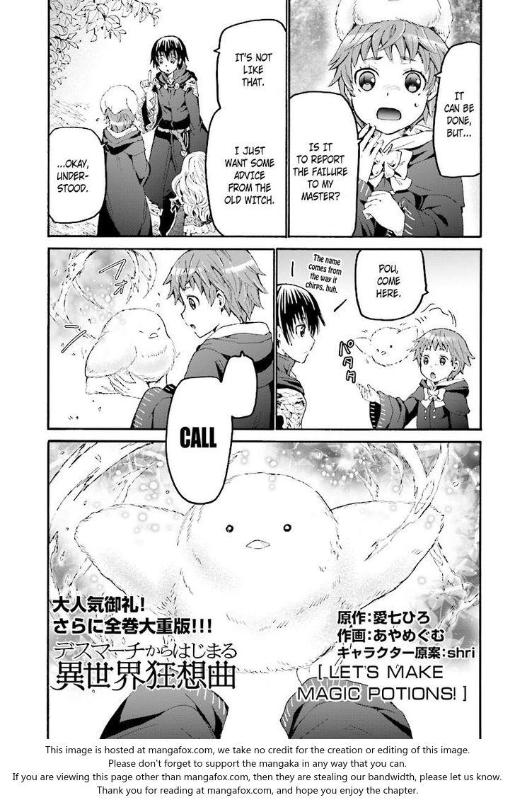 Death March kara Hajimaru Isekai Kyousoukyoku 40: Let's Make Magic Potions! at MangaFox