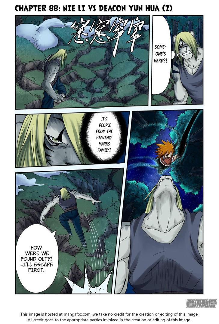 Tales of Demons and Gods 88.5: Nie Li vs Deacon Yun Hua (2) at MangaFox