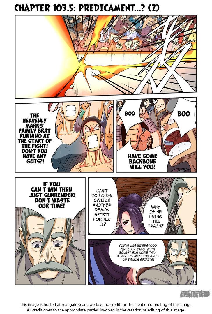 Tales of Demons and Gods 103.5: Predicament....? (2) at MangaFox