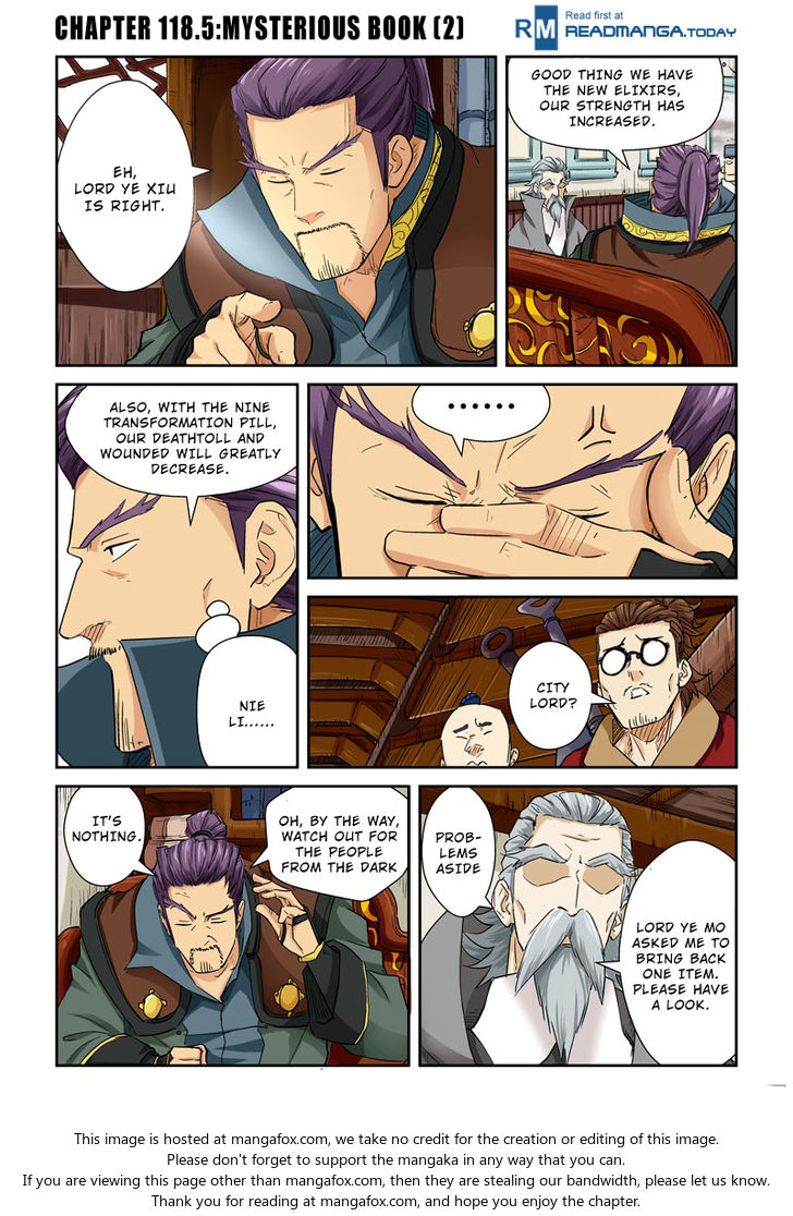 Tales of Demons and Gods 118.5: Mysterious Book(2) at MangaFox