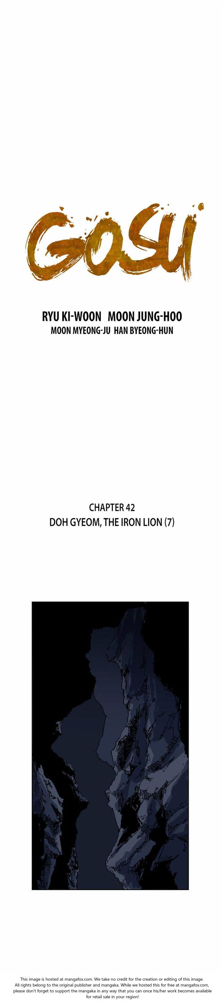 Gosu 42: Doh Gyeom, the Iron Lion (7) at MangaFox.la
