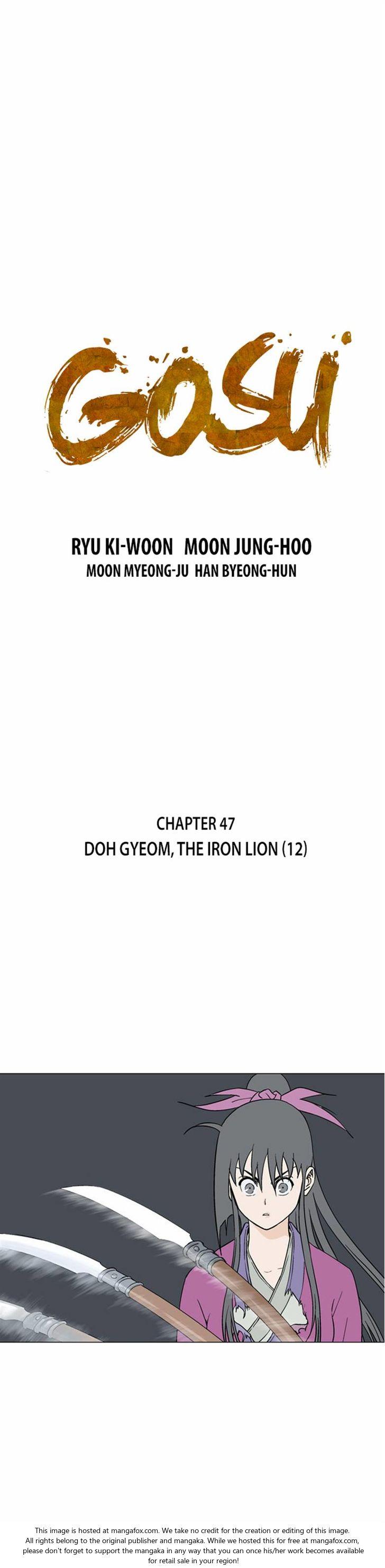 Gosu 47: Doh Gyeom, the Iron Lion (12) at MangaFox.la