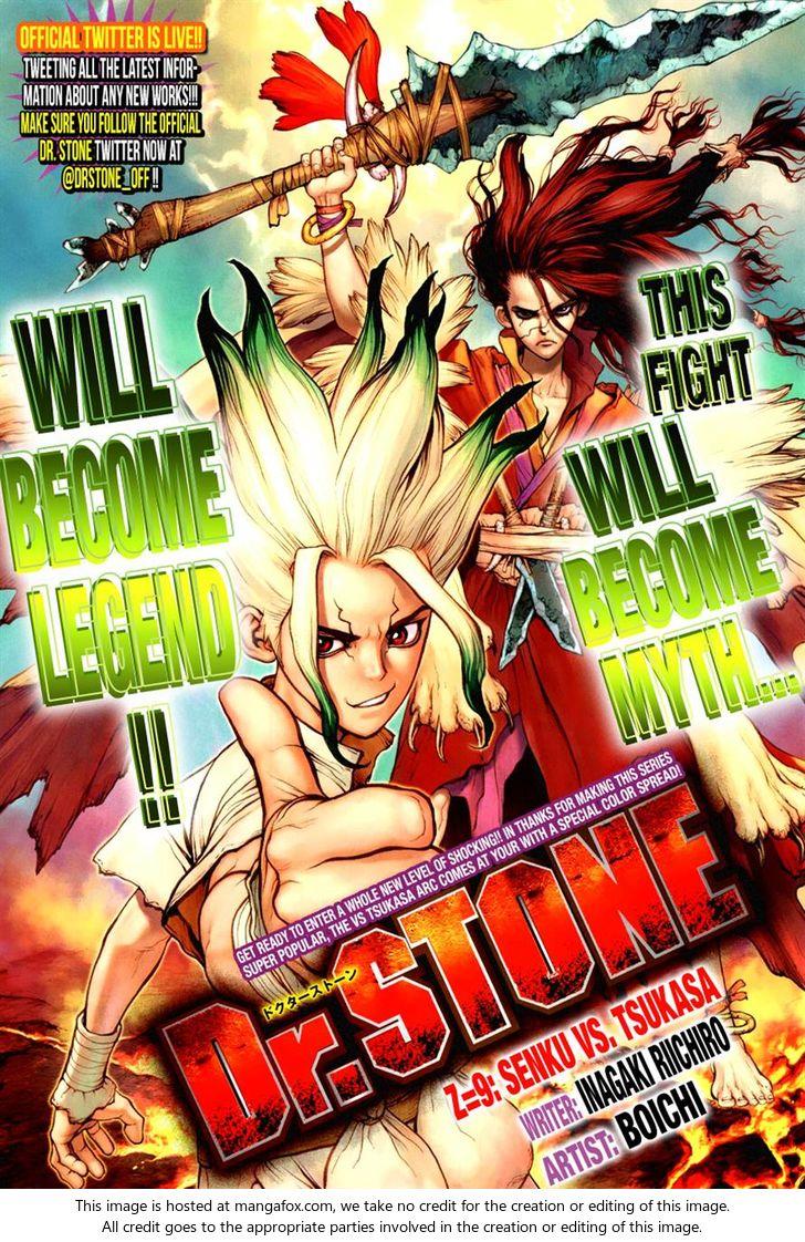 Dr. Stone 9: Senku vs. Tsukasa at MangaFox