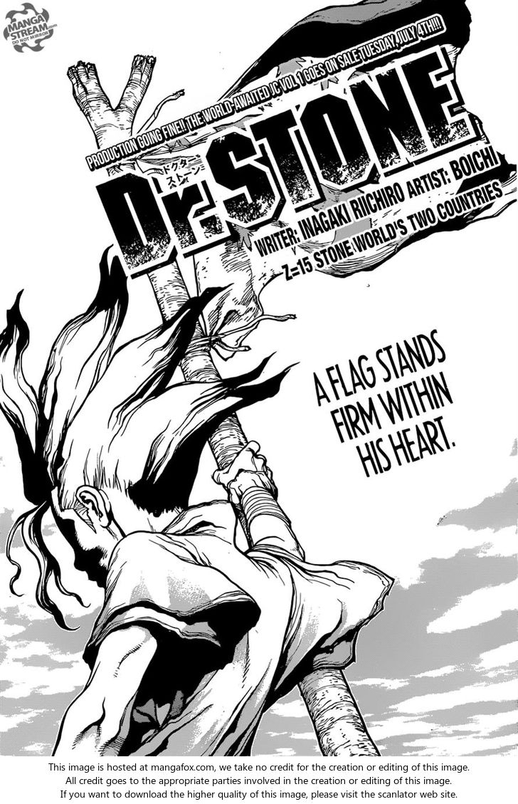 Dr. Stone 15: Stone World's Two Countries at MangaFox