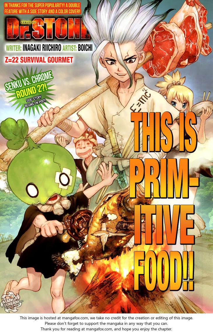 Dr. Stone 22: Survival Gourmet at MangaFox
