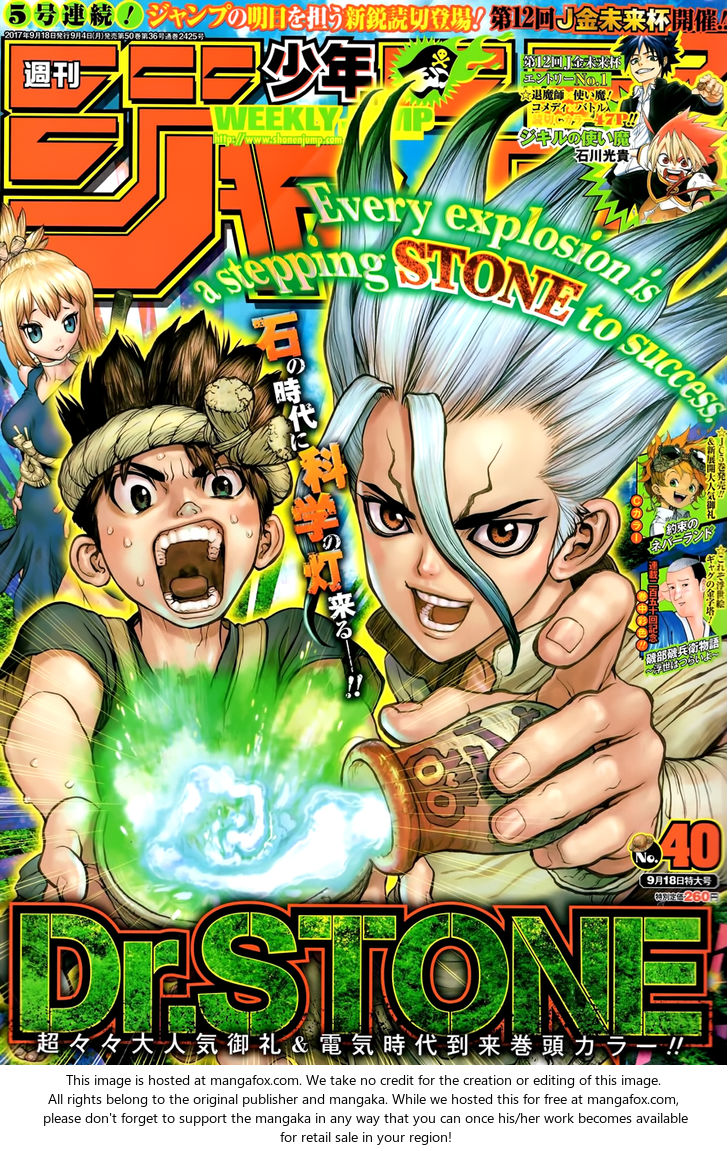 Dr. Stone 25: In This Hand, I Hold The Light Of Science! at MangaFox