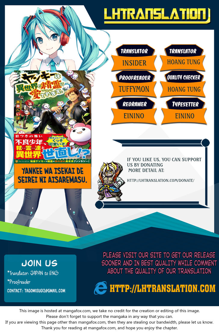 Yankee Wa Isekai De Seirei Ni Aisaremasu 9 at MangaFox