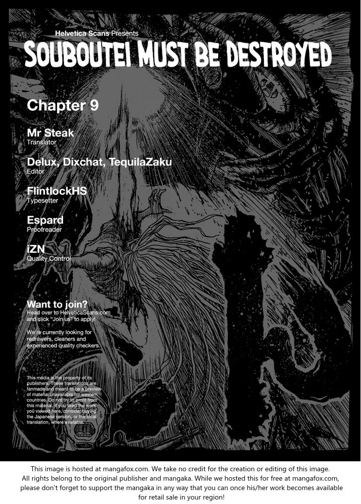 Souboutei Kowasu Beshi 9: Debriefing at MangaFox
