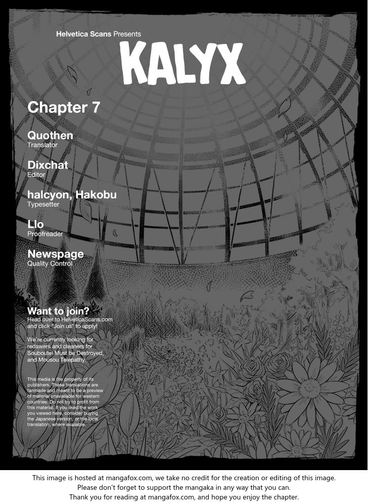 Kalyx 7: They Won't Come Back for You at MangaFox