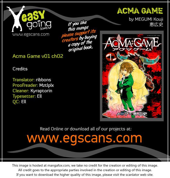 Acma:Game 2 at MangaFox