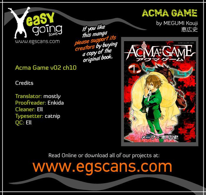 Acma:Game 10 at MangaFox