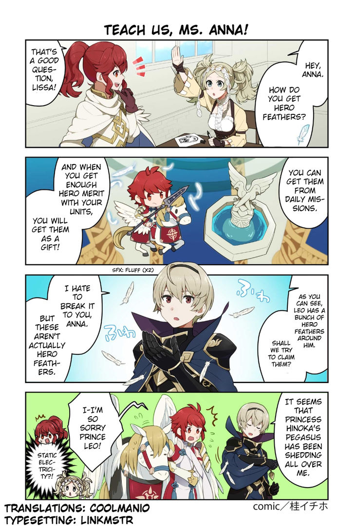 Fire Emblem Heroes Daily Lives of the Heroes 30: Teach Us, Ms. Anna! at MangaFox